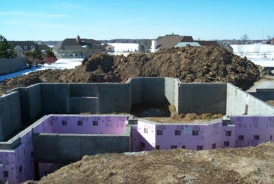 Poured concrete walls for Poured wall foundation